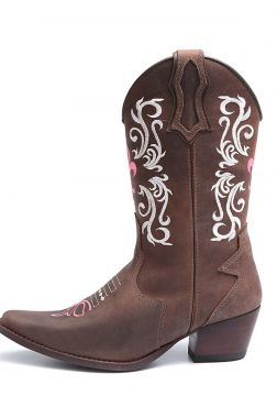 Bota Elite Country Amarillo Couro Cafe Elite Country