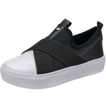 Tênis Slip On Domidona Elástico 111.35.009 - Preto Domidona