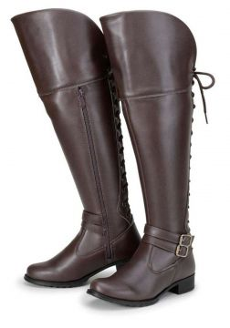 Bota Over Knee Elegance Cano Longo Marrom Elegance