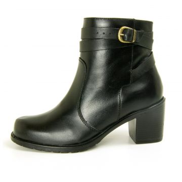 Bota Cano Curto Over Boots Isabela Couro Preto Over Boots