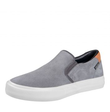 Slip On Mary Jane Slip Suede Grafite Mary Jane