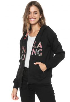 Moletom Flanelado Aberto Billabong Sunset Preto Billabong