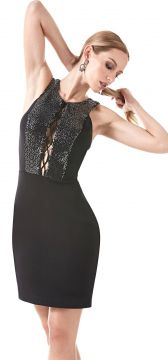 Vestido Richini Curto Preto Richini
