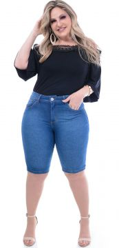 Bermuda Attribute Jeans Plus Size Stone Attribute Jeans