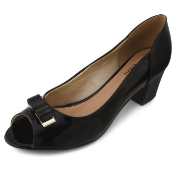 Peep Toe Lady Queen AM18-5504 Preto Aline Melo