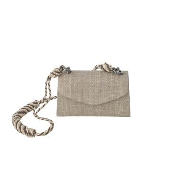 Clutch Palha Fendi Cinza A Clutch