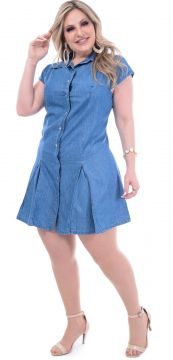 Vestido Attribute Jeans Liocel Recortes Jeans Attribute Jea