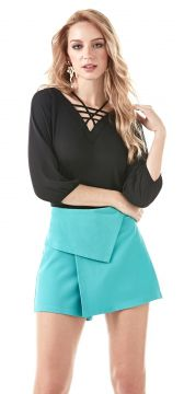 Blusa Richini Chiffon Preto Richini