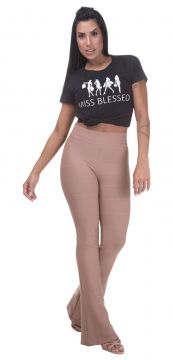 Calça Miss Blessed Premium Flare Bandagem Chocolate Miss Bl