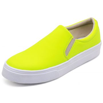 Tênis Casual Slip On BELLATRIX Neon Amarelo BELLATRIX