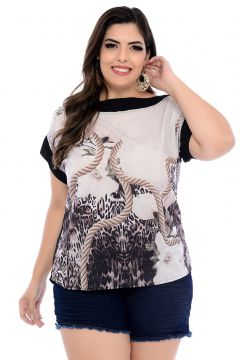 Blusa Art Final Plus Size Estampada Eloá-54 Art Final