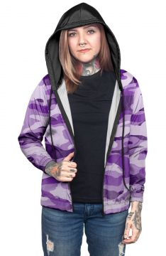 Jaqueta Corta Vento Chess Clothing Camuflado Roxo Chess Clo