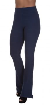 Calça Miss Blessed Flare Bandagem Azul Escuro Miss Blessed