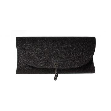 Clutch Mini Gliter Party Black A Clutch