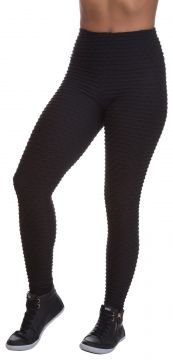 Legging Miss Blessed Colmeia Preto Miss Blessed