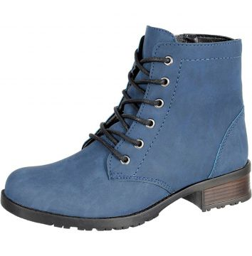 Bota Coturno CR Shoes Azul CR Shoes