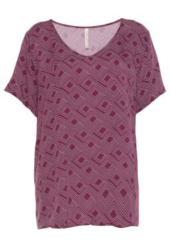 Blusa Cativa Plus Estampada Roxa Cativa Plus