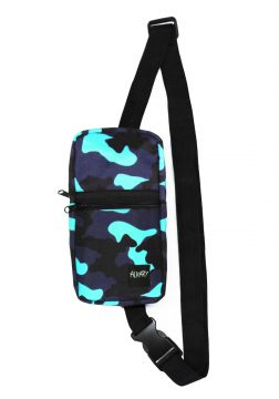 Mini Shoulder Bag Alkary Comprida Camuflada Azul Claro Alka