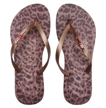 Chinelo Coca Cola Screen Leopard Cobre Coca Cola Shoes