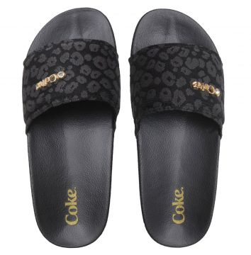 Chinelo Slide Coca Cola Animal Preto Coca Cola Shoes