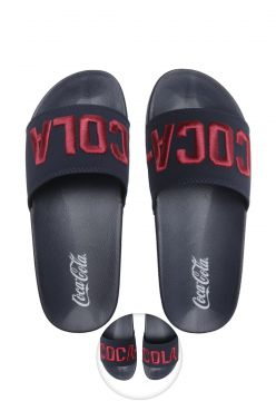 Chinelo Slide Coca Cola Stadium Azul-Marinho Coca Cola Shoe