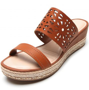 Tamanco Dakota Lasercut Caramelo Dakota