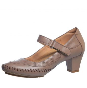 Sapato Salto Doctor Shoes 789 Bege Doctor Shoes