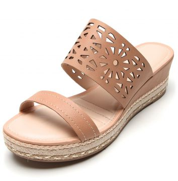 Tamanco Dakota Lasercut Nude Dakota