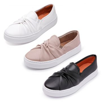 Kit 3 Pares Slip On CRISTAISHOES Branco CRISTAISHOES