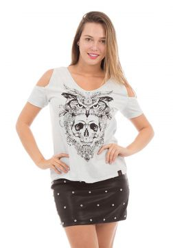 Camiseta AES 1975 Owl and Skull Aes 1975