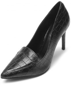 Scarpin DAFITI SHOES Croco Preto DAFITI SHOES