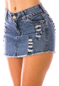 Short Saia Sisal Jeans Destroyer Sisal Jeans