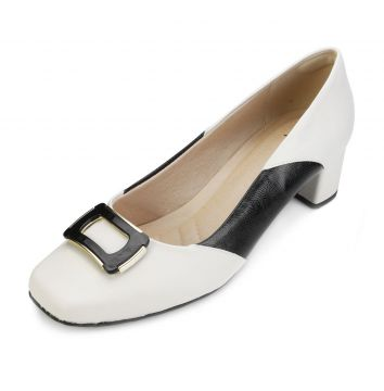 Sapato Lady Queen AM18-19019 Branco-Preto Lady Queen