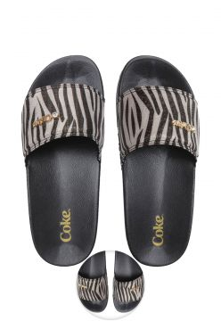 Chinelo Slide Coca Cola Zebra Preto Coca Cola Shoes