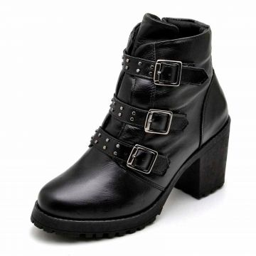 Bota Coturno Cano Curto DR Shoes Preto DR Shoes