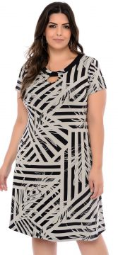 Vestido Elegance All Curves Plus Size Preto Juliana Fajos