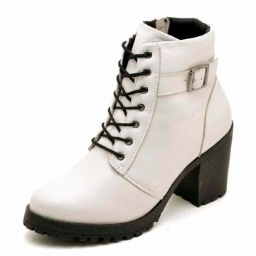 Bota Cano Curto DR Shoes Branco DR Shoes