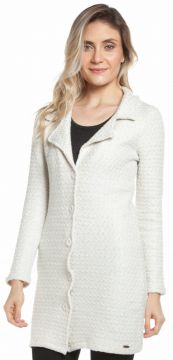 Casaco Ralm Tricot Tweed Off-White Ralm