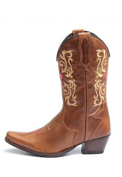Bota Elite Country Amarillo Couro Mostarda Elite Country