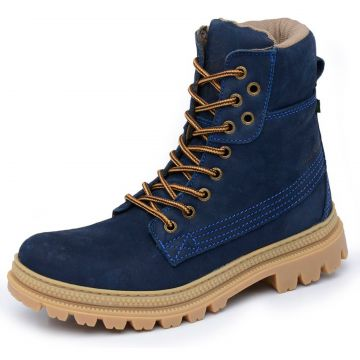 Bota Militar Cano Alto Macboot Papoula 04 Azul Macboot