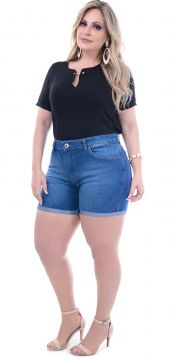 Short Barra Virada Attribute Jeans Plus Size Attribute Jea