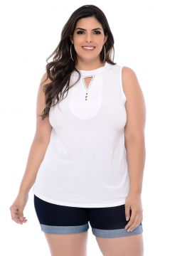 Blusa Viscose Barrieli Delicada Branca Barrieli