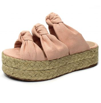 Tamanco Flatform Damannu Shoes de Corda Louane Rosa Damannu