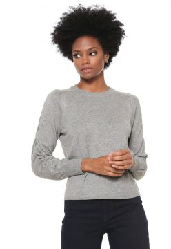 Suéter Only Tricot Raglan Cinza Only