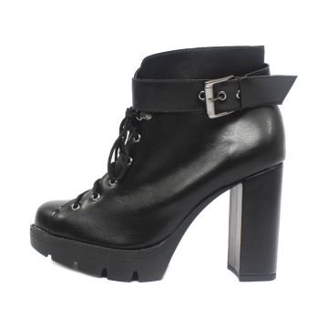 Bota Damannu Shoes Lilly Napa Preto Damannu Shoes