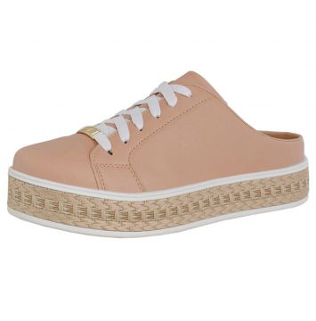 Mule Casual Soft Plataforma CR Shoes Feminino Nude CR Shoes