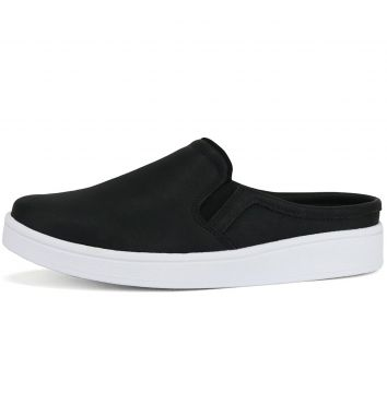 Tênis Casual Slip On Mule SapatoFran CR Shoes Preto CR Shoe
