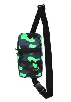 Mini Shoulder Bag Alkary Comprida Camuflada Verde Limão Alk