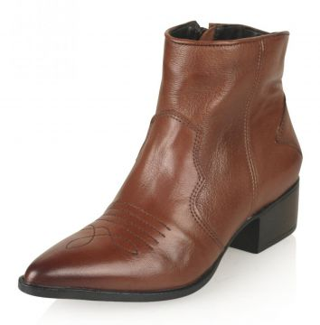 Bota Cano Curto Paola Constance Country Chic Tabaco Paola C