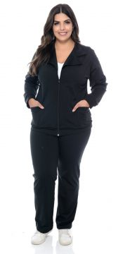 Conjunto Barrieli Plus Size Originals Touch Skin Preto Barr